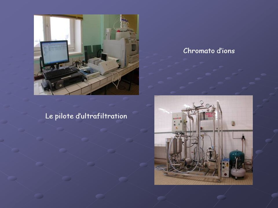 Chromato d'ions Le pilote d'ultrafiltration