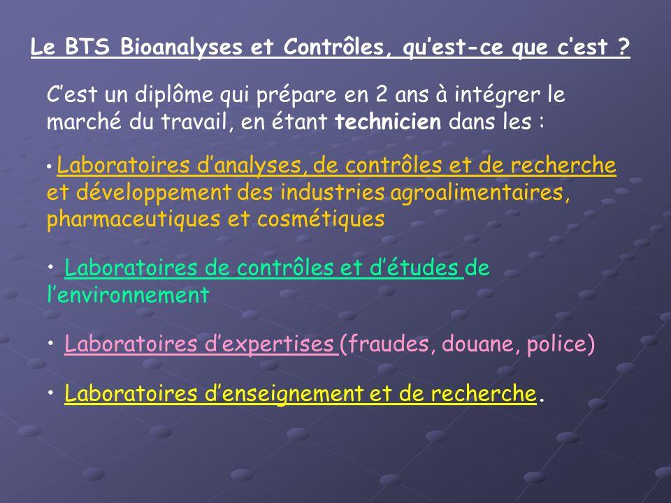 Le BTS Bioanalyses et Contrôles, qu'est-ce que c'est