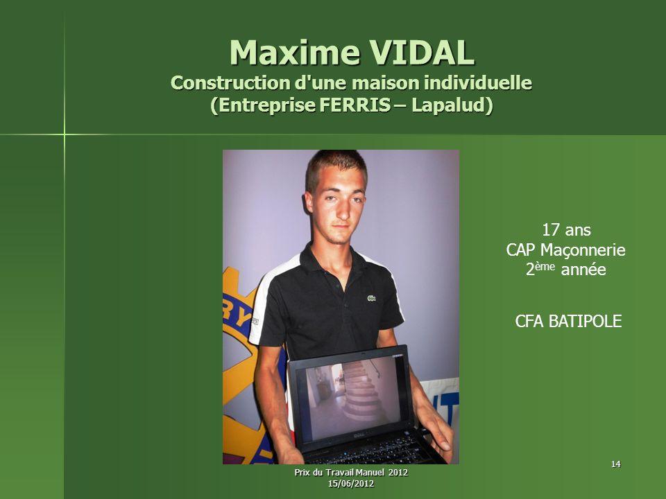 Construction d une maison individuelle (Entreprise FERRIS – Lapalud)
