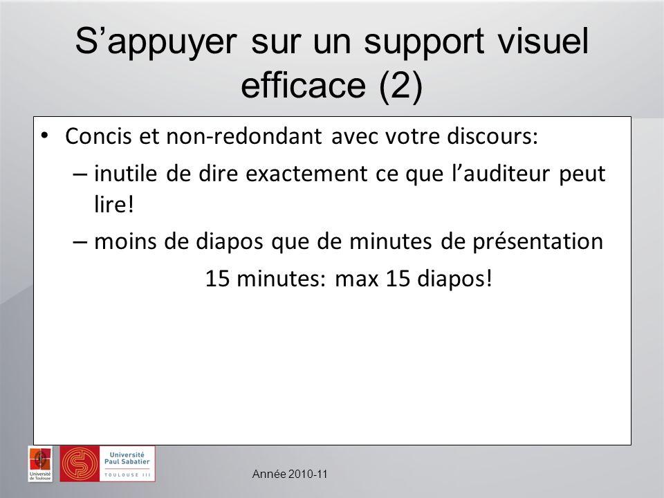 S'appuyer sur un support visuel efficace (2)