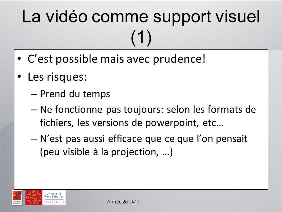 La vidéo comme support visuel (1)