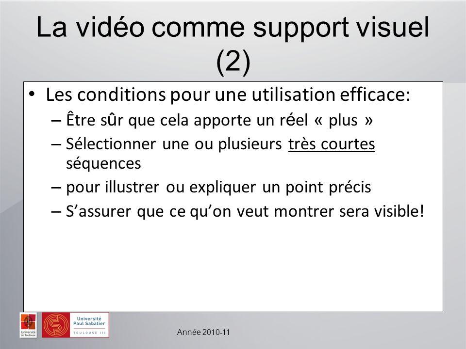 La vidéo comme support visuel (2)