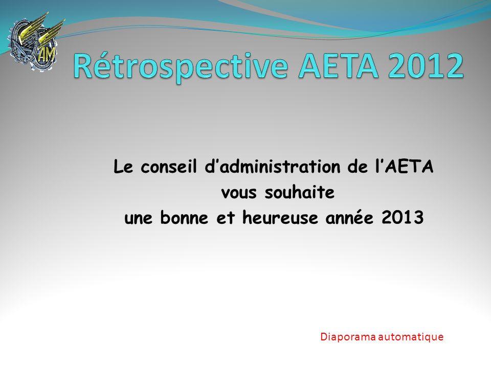 Le conseil d'administration de l'AETA une bonne et heureuse année 2013