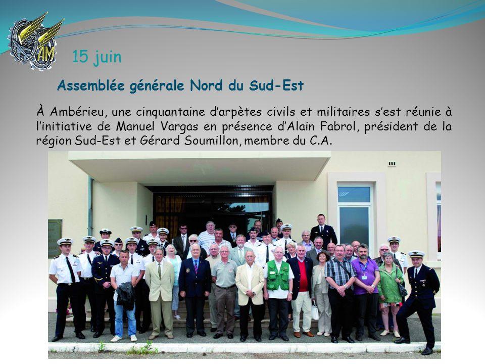 15 juin Assemblée générale Nord du Sud-Est