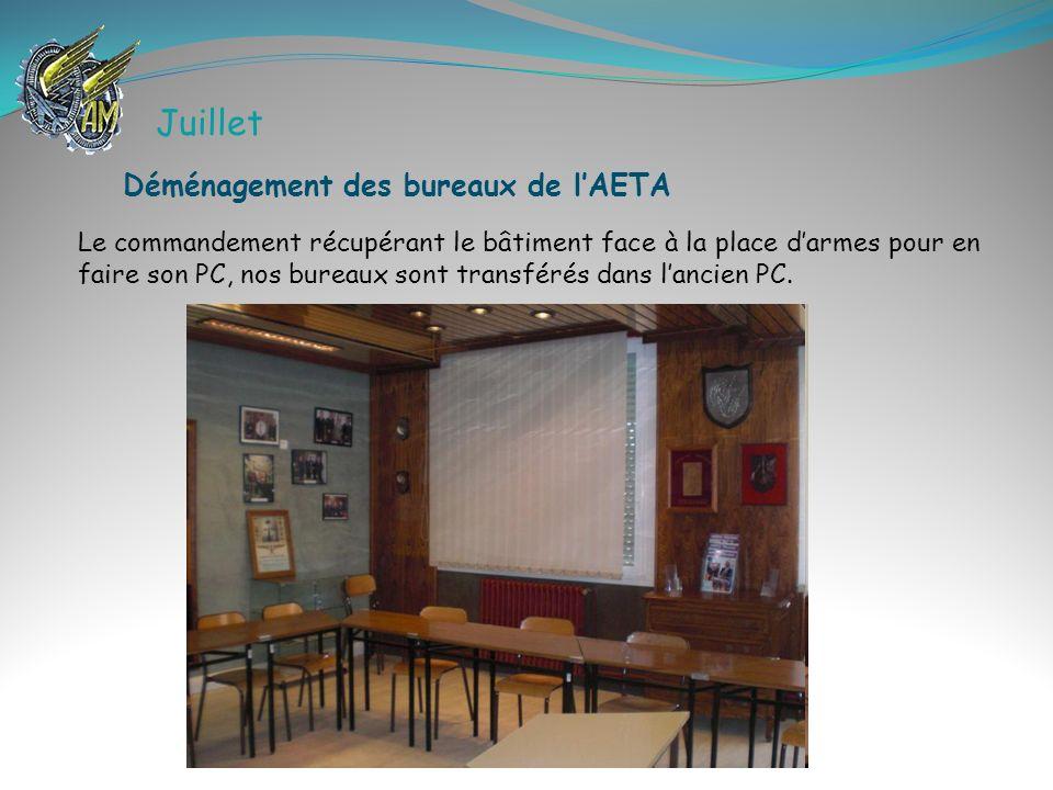 Juillet Déménagement des bureaux de l'AETA