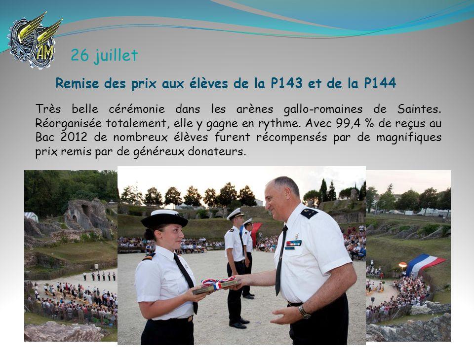 26 juillet Remise des prix aux élèves de la P143 et de la P144
