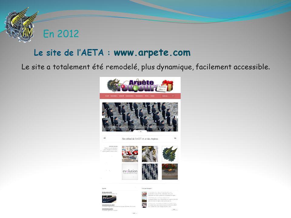 En 2012 Le site de l'AETA : www.arpete.com