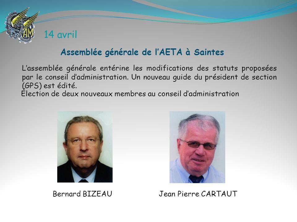 14 avril Assemblée générale de l'AETA à Saintes