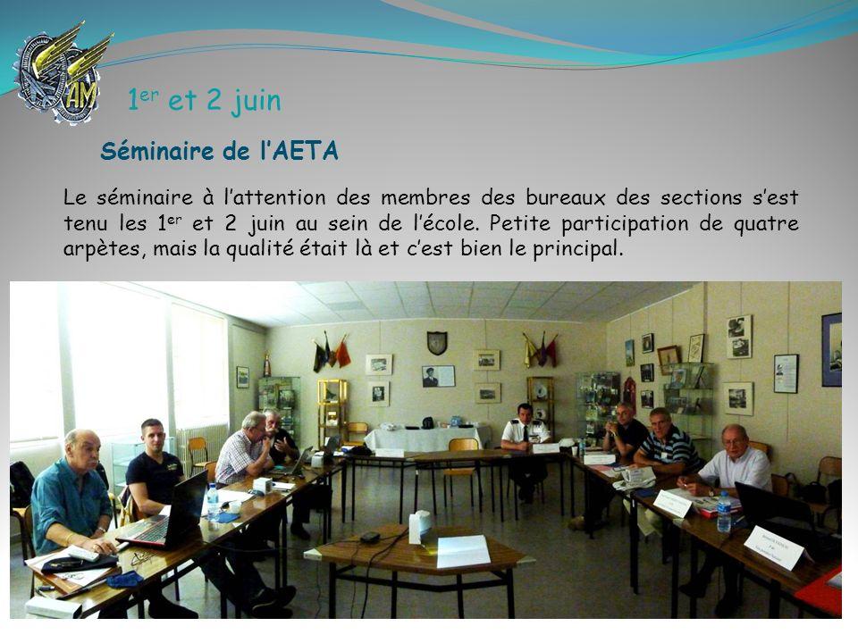 1er et 2 juin Séminaire de l'AETA