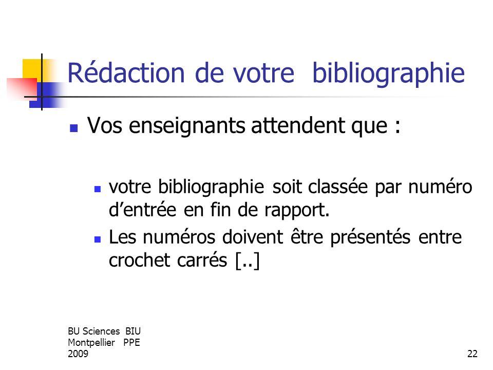Rédaction de votre bibliographie