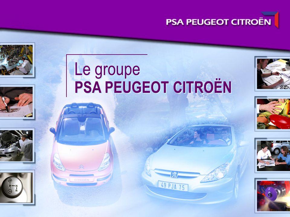Le groupe PSA PEUGEOT CITROËN