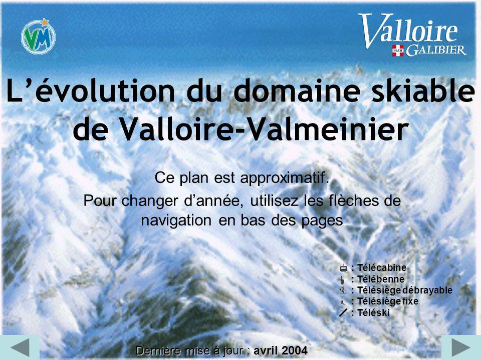 L'évolution du domaine skiable de Valloire-Valmeinier