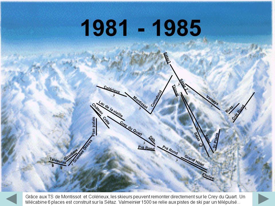1981 - 1985 Montissot. Colérieux. Cornafond. Etoiles. Verneys. Déb. Plan palais. Grandes Drozes.