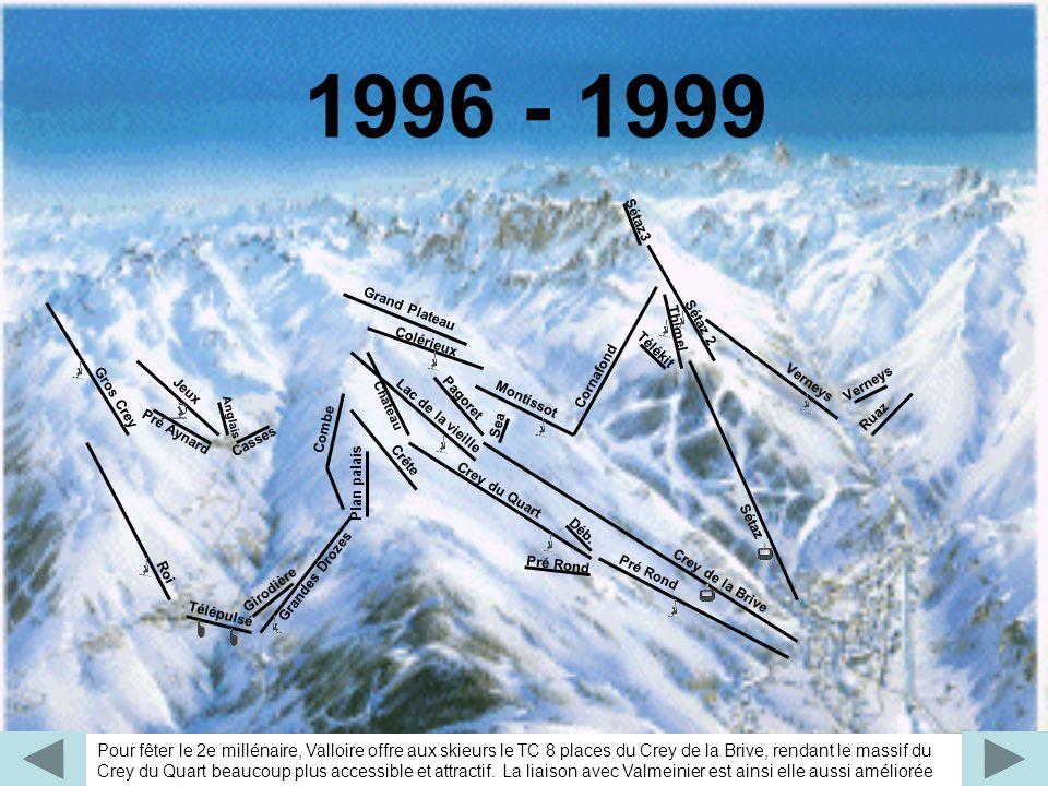 1996 - 1999 Sea. Pagoret. Montissot. Crey de la Brive. Grand Plateau. Verneys. Château. Lac de la vieille.