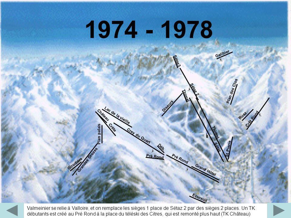 1974 - 1978 Déb. Plan palais. Grandes Drozes. Plan des Clos. Lac de la vieille. Pré Rond. Galibier.