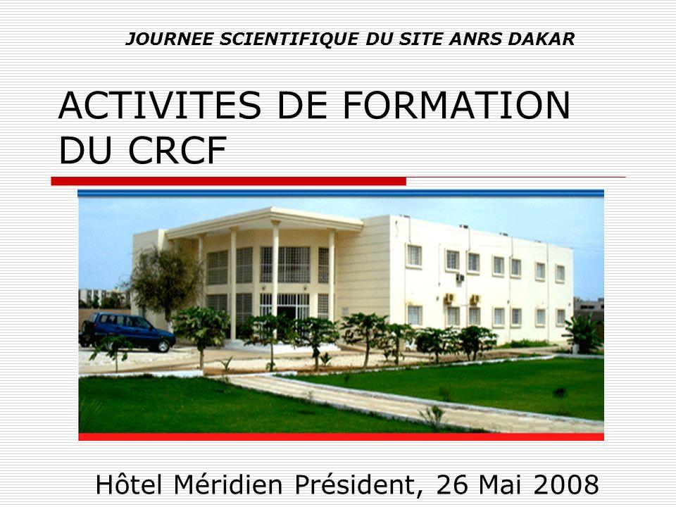 ACTIVITES DE FORMATION DU CRCF