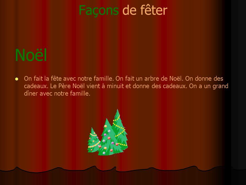 Façons de fêter Noël.