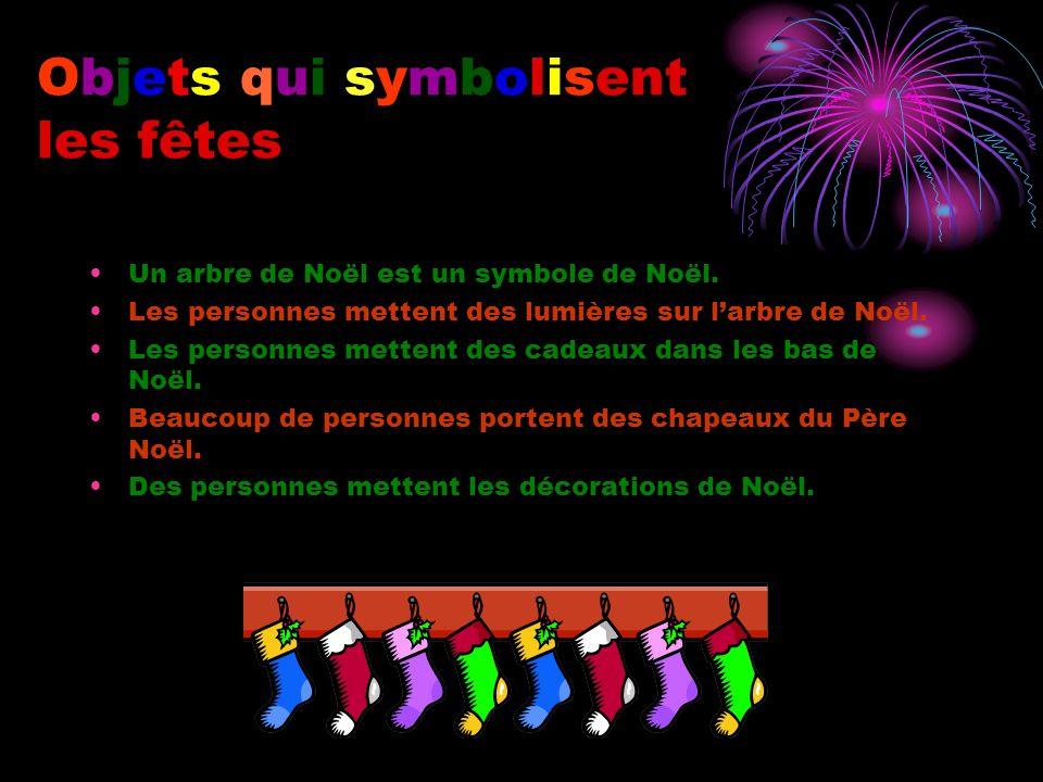 Objets qui symbolisent les fêtes