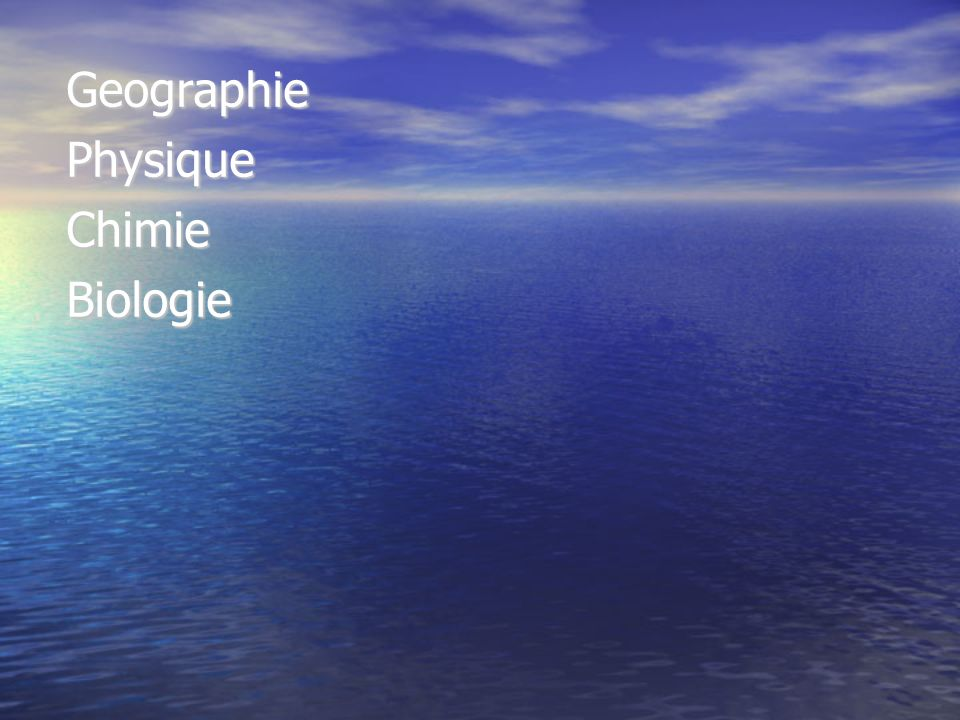 Geographie Physique Chimie Biologie