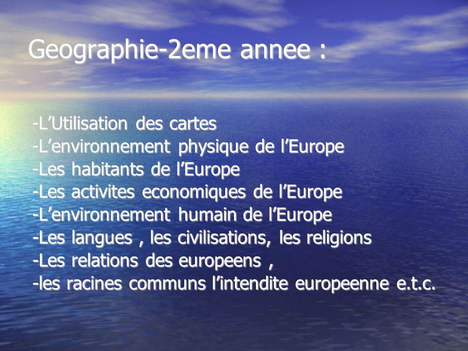Geographie-2eme annee :
