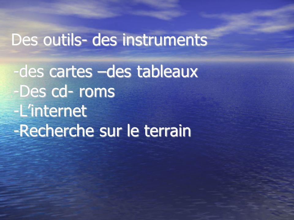 Des outils- des instruments