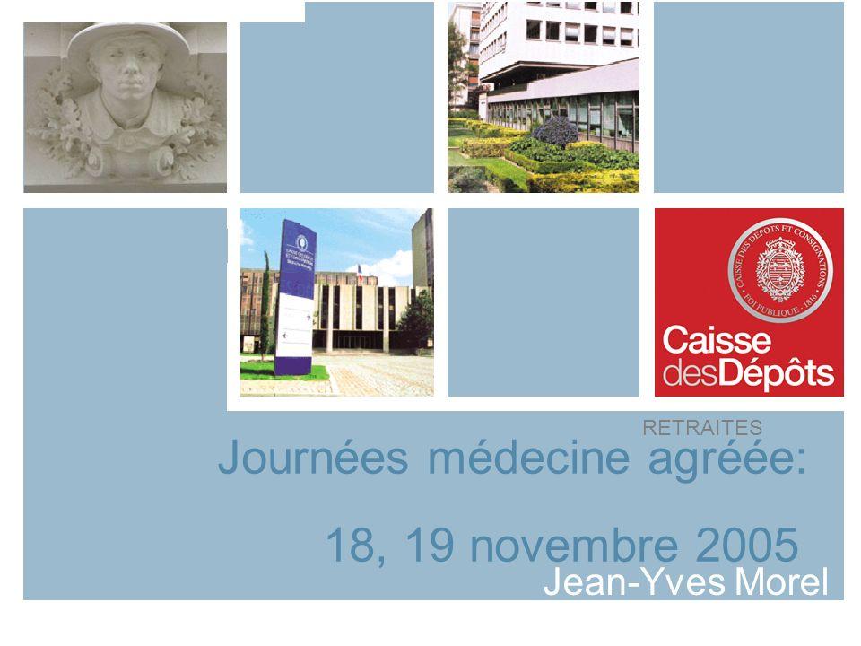 Journées médecine agréée: 18, 19 novembre 2005