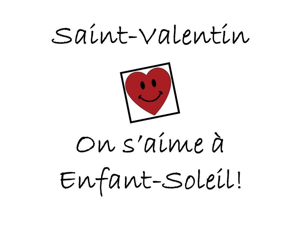 Saint-Valentin On s'aime à Enfant-Soleil!