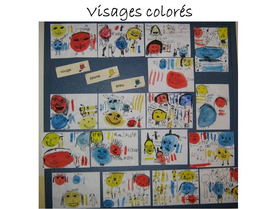 Visages colorés