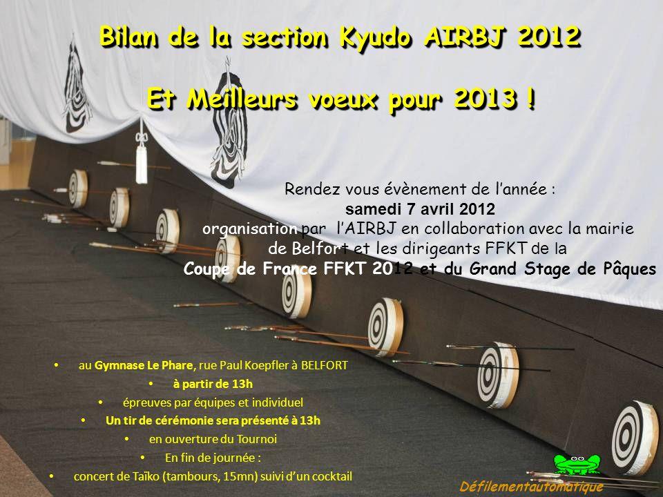 Bilan de la section Kyudo AIRBJ 2012 Et Meilleurs voeux pour 2013 !