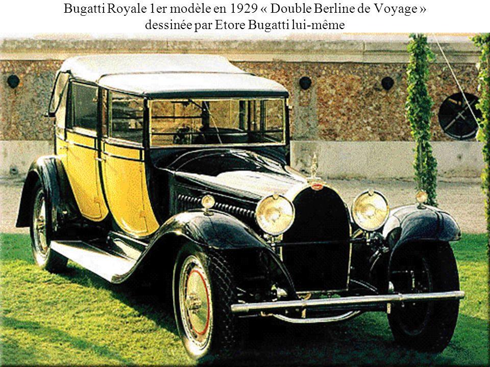 Bugatti Royale 1er modèle en 1929 « Double Berline de Voyage » dessinée par Etore Bugatti lui-même
