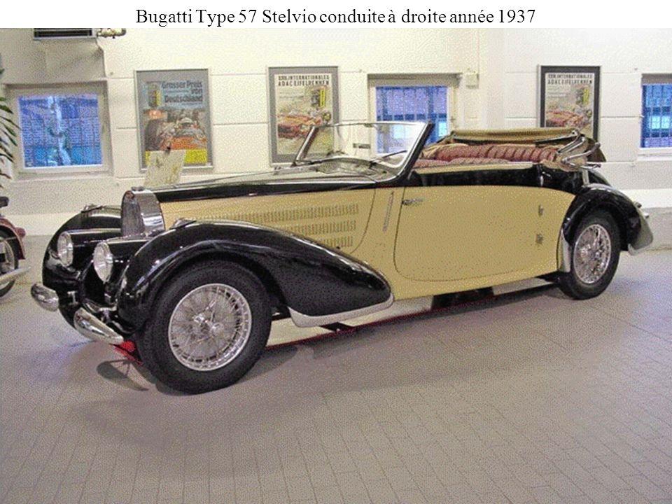Bugatti Type 57 Stelvio conduite à droite année 1937