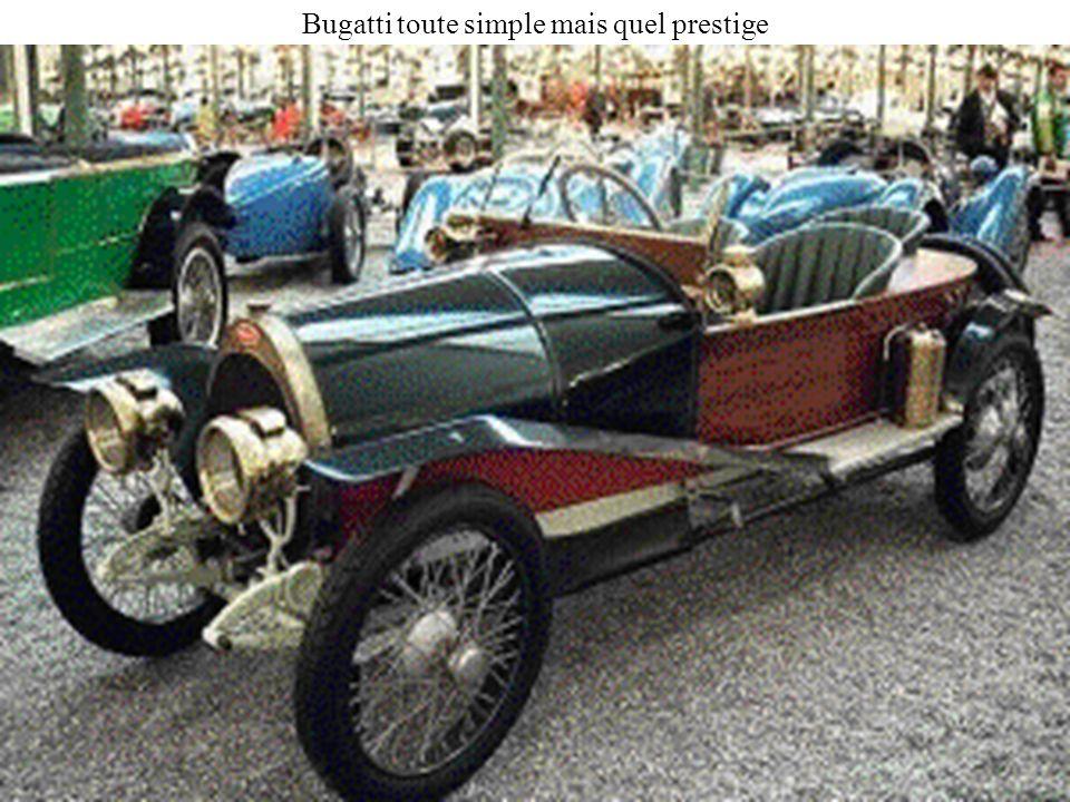 Bugatti toute simple mais quel prestige