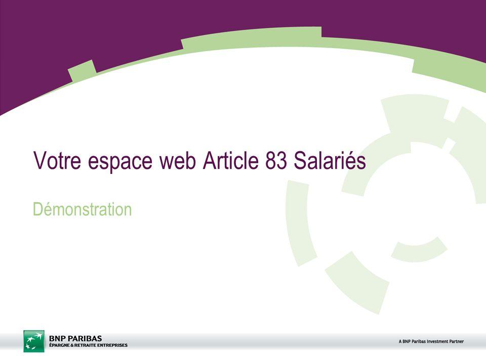 Votre espace web Article 83 Salariés
