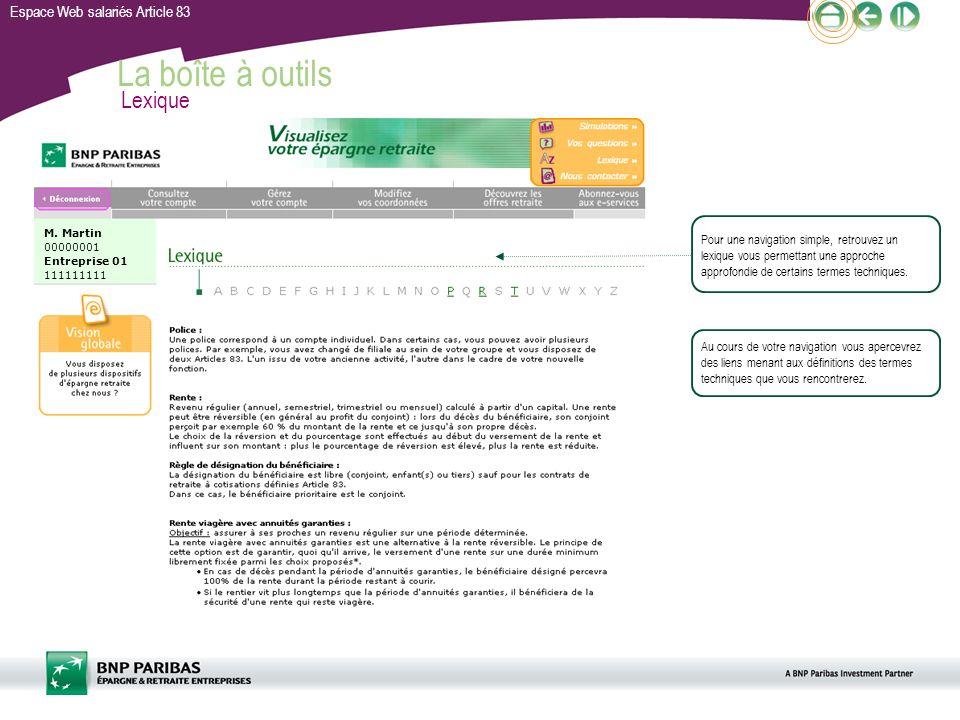 La boîte à outils Lexique