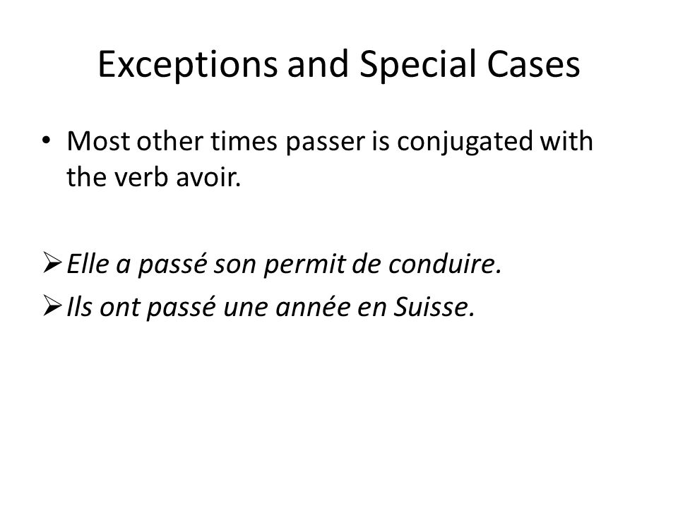 Exceptions and Special Cases
