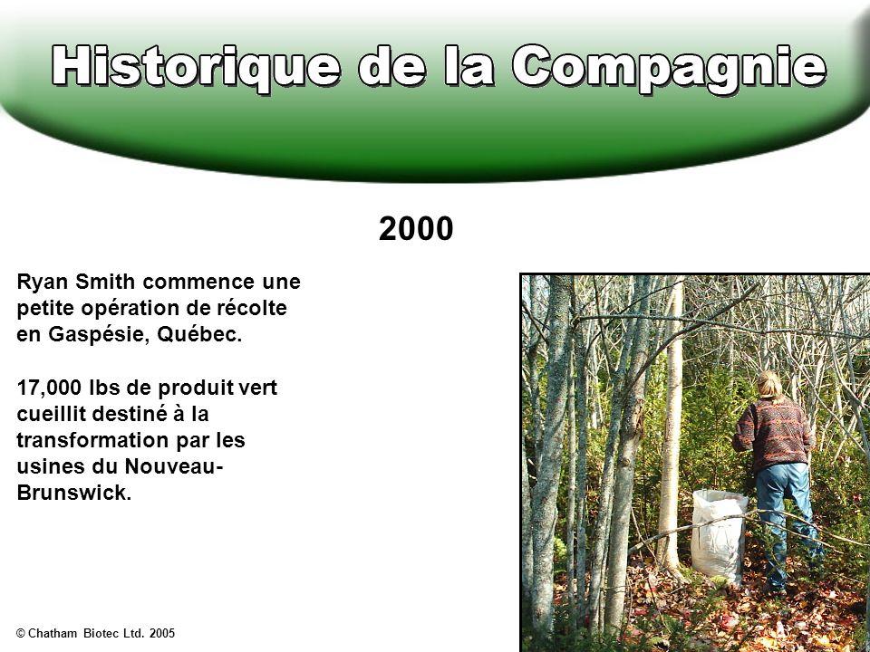 2000 Ryan Smith commence une petite opération de récolte en Gaspésie, Québec.