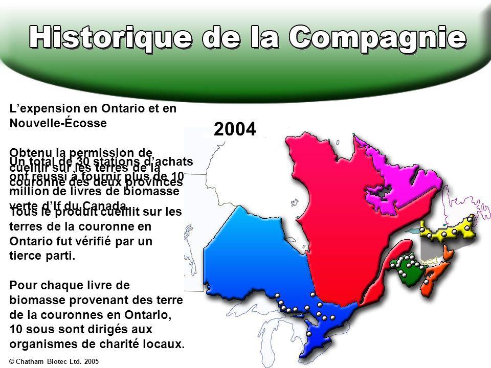 2004 L'expension en Ontario et en Nouvelle-Écosse