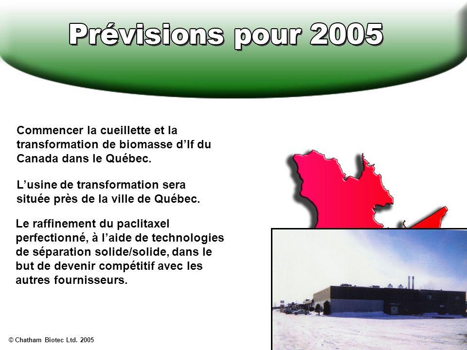 L'usine de transformation sera située près de la ville de Québec.