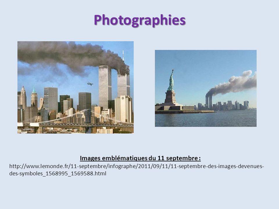 Images emblématiques du 11 septembre :