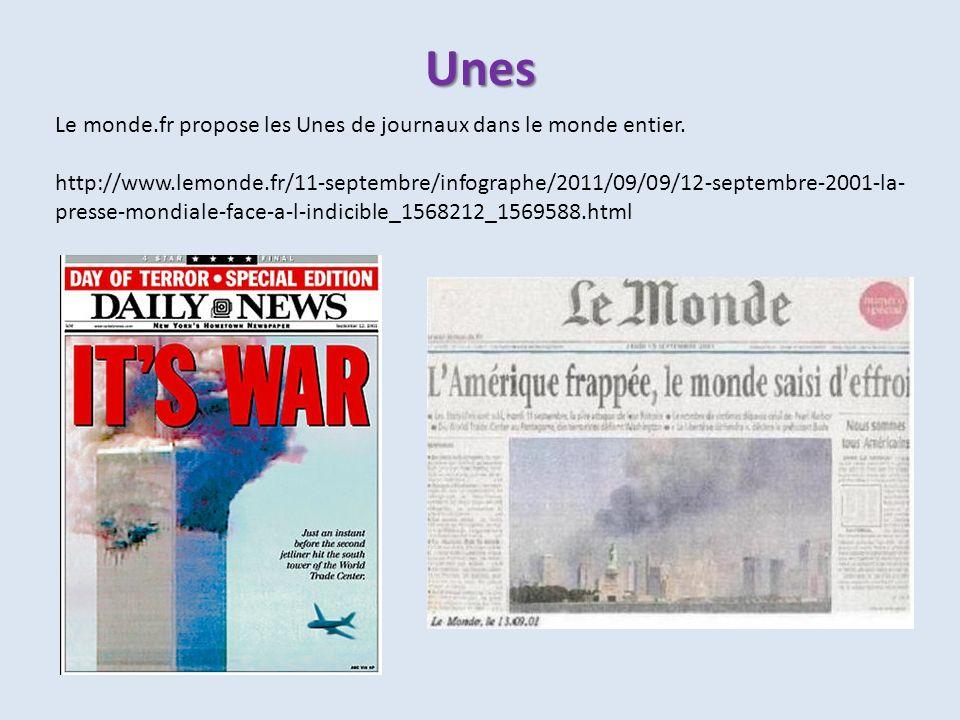 Unes Le monde.fr propose les Unes de journaux dans le monde entier.