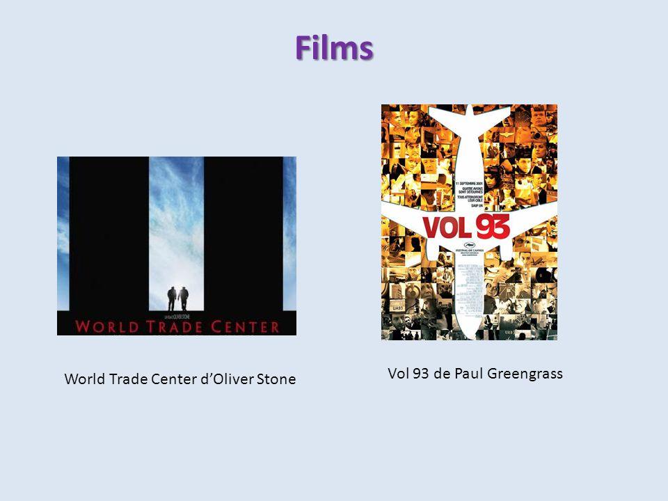 Films Vol 93 de Paul Greengrass World Trade Center d'Oliver Stone