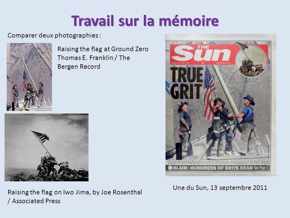 Travail sur la mémoire Comparer deux photographies :