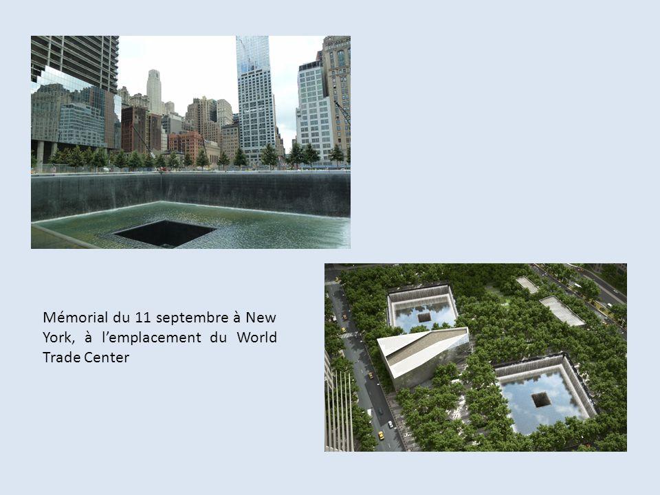 Mémorial du 11 septembre à New York, à l'emplacement du World Trade Center