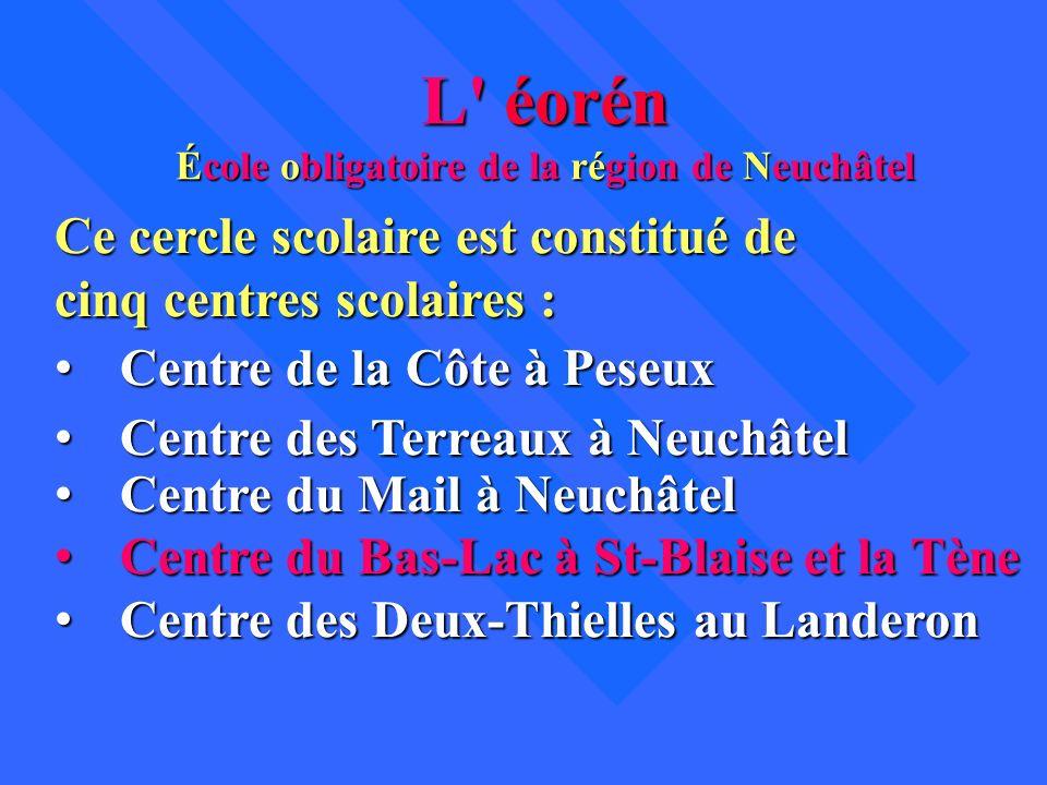 L éorén École obligatoire de la région de Neuchâtel