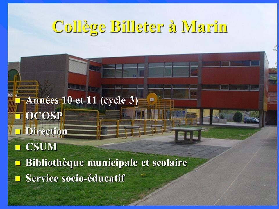Collège Billeter à Marin