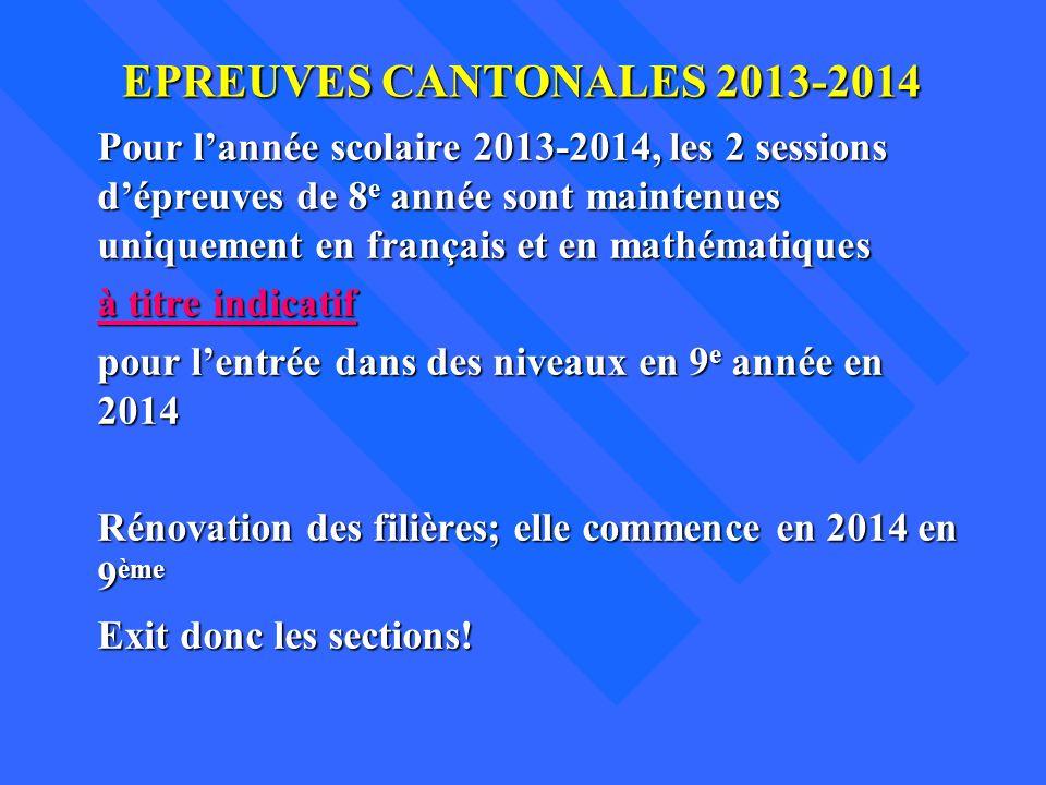 Epreuves cantonales 2013-2014