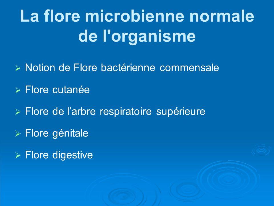 La flore microbienne normale de l organisme