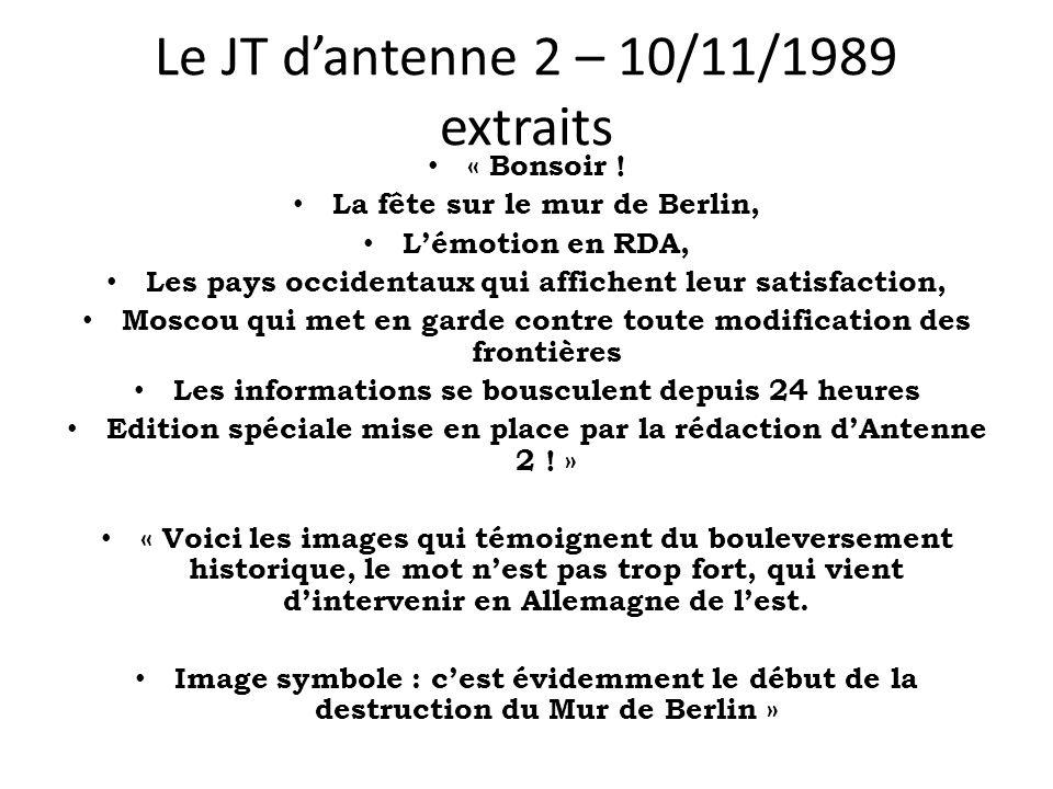 Le JT d'antenne 2 – 10/11/1989 extraits