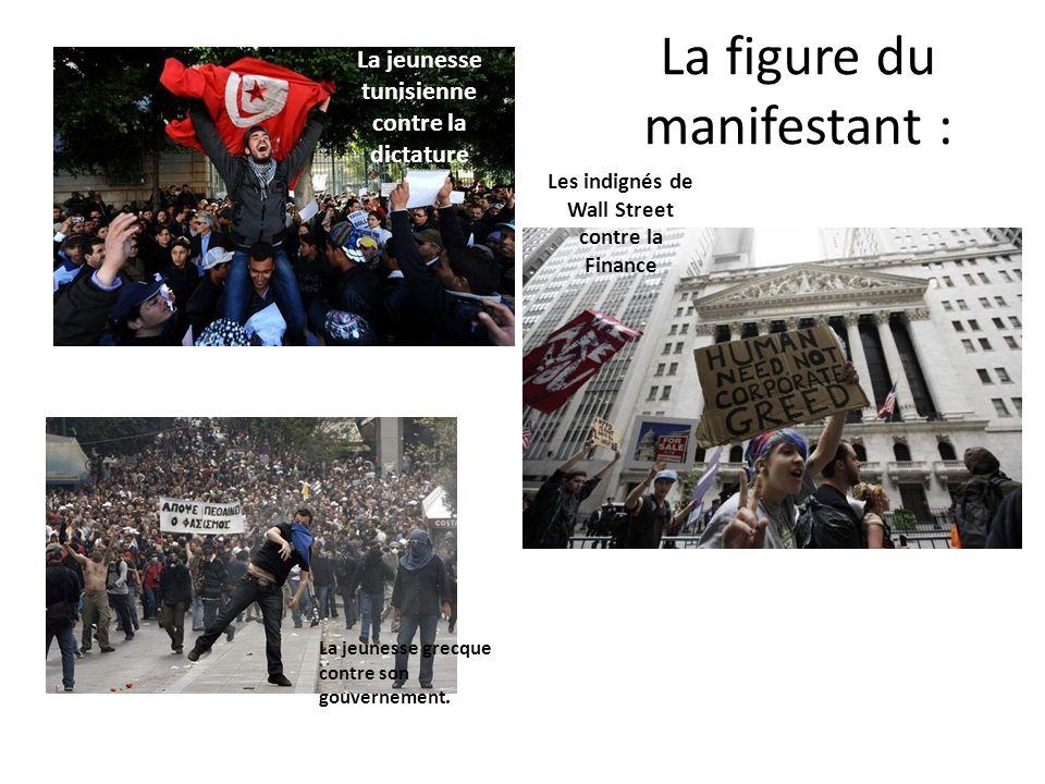La figure du manifestant :