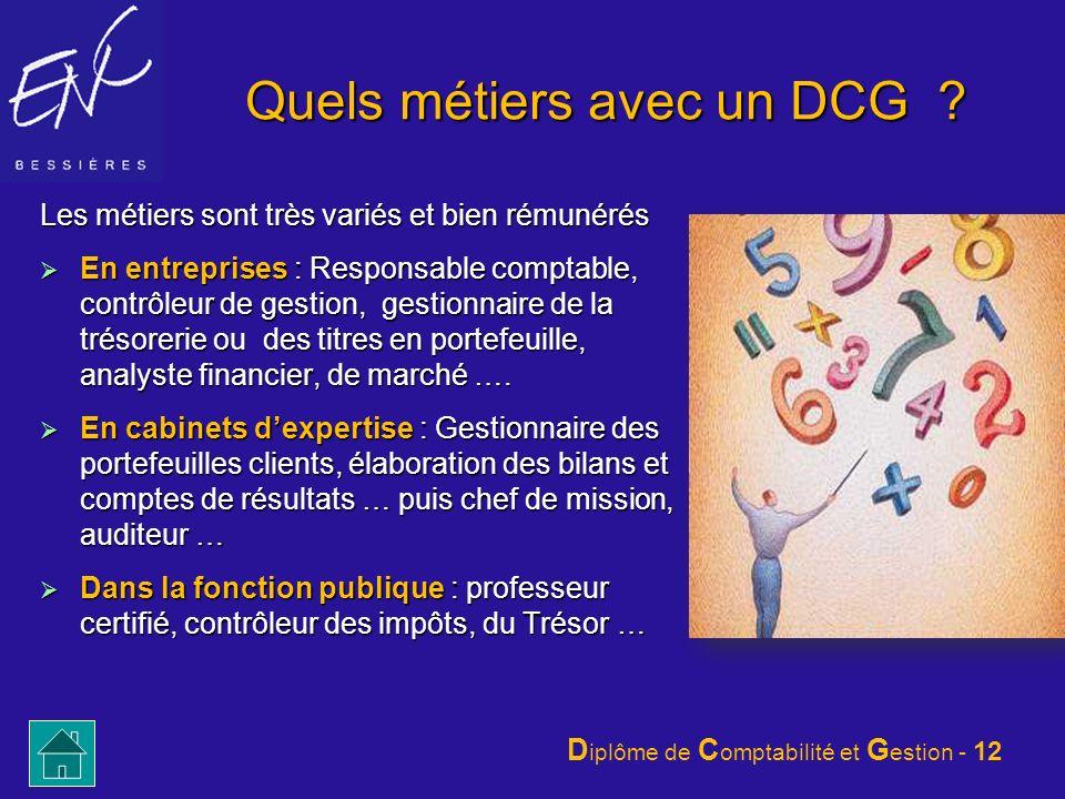 Quels métiers avec un DCG